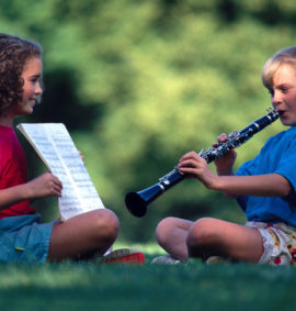 Girls Playing Music